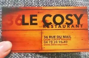 Restaurant 36 Le Cosy