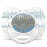 sucette-anatomique-reversible-couture-ethnic-bleu-et-dore-en-silicone-4-18-mois